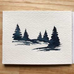 A small little watercolour for today Busy day How is your day so far Have a fantastic weekend lostswissmiss illustration Watercolor Trees, Easy Watercolor, Watercolor Paintings, Watercolor Landscape, Sunset Landscape, Landscape Paintings, Watercolors, Watercolour Illustration, Small Paintings