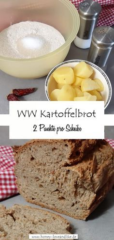 Das beste Brot ever! Weight Watchers Kartoffelbrot Today there is the best bread ever! The Weight Watchers large potato bread is made with boiled potatoes. So if you have potatoes left over from lunch, just bake some bread! Petit Déjeuner Weight Watcher, Weight Watchers Breakfast, Vegan Breakfast Recipes, Paleo Recipes, Crockpot Recipes, Breakfast Crockpot, Salsa Verte, Wight Watchers, Breakfast Desayunos