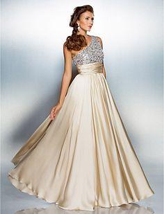 Vestido de Formatura Longo de Cetim (Um Ombro só) - BRL R$ 307,77