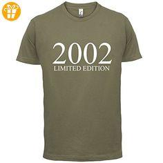 2002 Limierte Auflage / Limited Edition - 15. Geburtstag - Herren T-Shirt - Khaki - S (*Partner-Link)