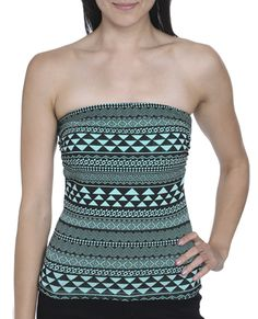 Ethnic Print Tube Top from Wet Seal   #tribal #tubetop