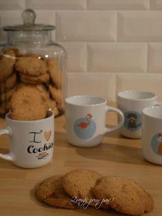 Cookies chocolat blanc sans oeufs et pas trop sucrés!