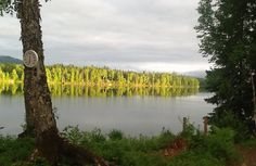 Hewitt Lake from the log cabin