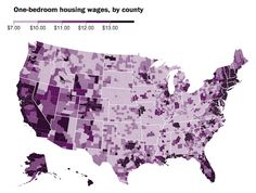 I enjoy county-level data; much like the famous 'pop-soda-coke' map - jb. What you'd need to make in every county in America to afford a decent one-bedroom - The Washington Post Ap Human Geography, 5 Year Plan, Thing 1, One Bedroom, Bedroom Apartment, Interactive Map, Financial Literacy, Historical Maps, Federal