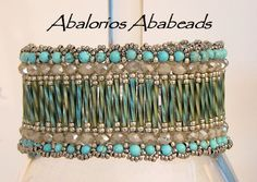"""Abalorios Ababeads - Called """"Catala"""" - pattern included - elegant use for twisted bugles."""