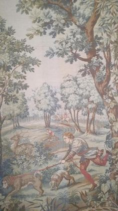 Check out this item in my Etsy shop https://www.etsy.com/listing/583983516/antique-french-tapestry-wool-tapestry