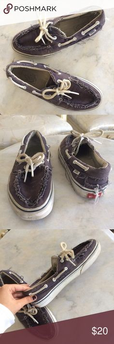 8bc9cdbeacdba9 Vans boat shoes for men Preowned vans boat shoes size 7.5 men s. The fabric  color