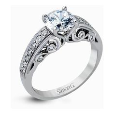 Simon G. MR2415 Duchess Engagement Ring Setting ($2,860) ❤ liked on Polyvore featuring jewelry, rings, band jewelry, engagement rings, enhancer ring, round engagement rings and bezel set ring