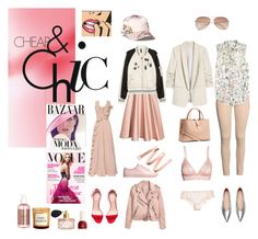 """Cheap & chick in pink"" by malinandersson on Polyvore featuring H&M, Bela, Pink and HM"