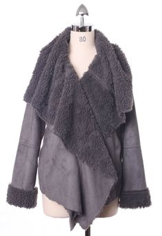 #Chicwish Chicwish Drape Aspen Jacket in Ash - Tops - Retro, Indie and Unique Fashion