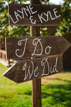Make sure your guests know where to go with these clever wedding ceremony and reception signs