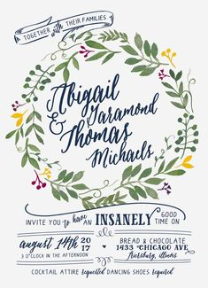 Watercolor Wedding Invitation Suite DEPOSIT DIY by SplashOfSilver