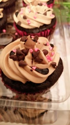Chocolate cup with reece, peanut butter frosting