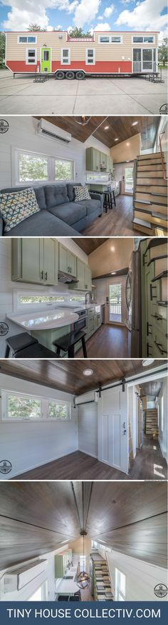 The Elmore: a three-bedroom tiny house with a full kitchen and bathroom! HUGE but beautiful!