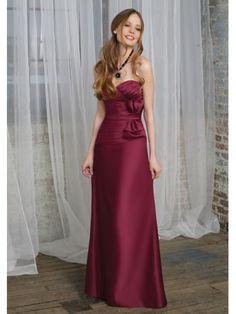 Satin Sweetheart Corset Back Floor-length Bridesmaid Dress
