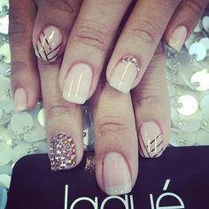 Gel manicure with design $45 #laquenailbar - @laquenailbar- #webstagram