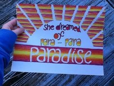 Paradise Lyric Drawing by TaylorandEmilysEtsy on Etsy, $5.00