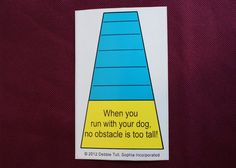 Dog Agility Car Magnet When you run with by Sophiagoestothedogs, $5.15