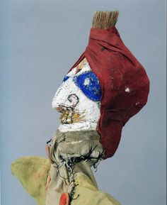 One of fifty+ hand puppets (1916-25) created by Swiss artist Paul Klee (1879-1940). via open culture