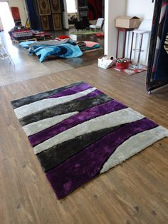 glamour shag purple shag rug 5u00274 x 7u002710 purple shag 5u0027 x 7u0027 size 5u0027 x 7u0027 solid purple shag rug shag rugs and