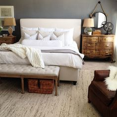 Nice neutral bedroom from House Seven Blog
