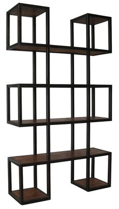 Imagine a row of these modern bookcases lining a loft wall or studio creating a fantastic mosaic.  The warm metal and wood tones provide a sophisticated and creative home for all your favorite magazines, books and objects d'arte.  Not the right size,finish, color? At Mortise & Tenon we can customize any piece to your exactspecifications including dimensions, wood choice and finish or create a brandnew design.  Every  piece ishand made in our L.A. wood shop since 1989.