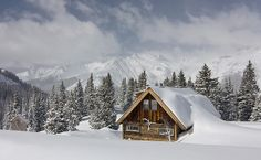 Home, Sweet Home by AGrinberg, via Flickr  #cabin #snow