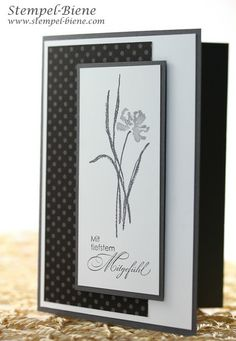 handmade card ... shades of gray ... luv the slightly tall card with simple strong lines ... Stampin'Up!