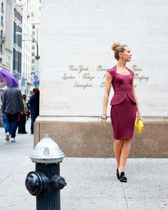 #macysfallstyle obsessed with peplum! And this color!!!