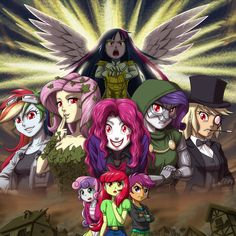 "IDW Comics ""My Little Pony: Friendship is Magic"" #43-45 ""Ponies of Dark Water"" [Reference] Twilight Sparkle: Kiryuuin-Satsuki (Kill La Kill) Rainbow Dash: Quick Silver (X-MEN) Fluttershy: Poison Iv..."