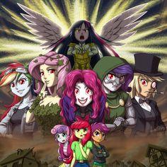 "IDW Comics ""My Little Pony: Friendship is Magic"" #43-45 ""Ponies of Dark Water"" [Reference] Twilight Sparkle: Kiryuuin-Satsuki (Kill La Kill) Rainbow Dash: Quick Silver (X-MEN) Fluttershy: Poison Iv..."