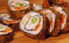Geneviève Everell explique comment cuisiner un sushi Dragon Eyes. Sushi Burger, My Sushi, Sushi Bowl, Sushi Art, Sushi Recipes, Asian Recipes, Ethnic Recipes, Sushi Dessert, Dragon Eyes
