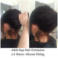 Discreet extension fitting for those hair up lovers❤️