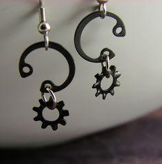 Three Horseshoe Earrings repurposed hardware earrings by jUNIQUE4U