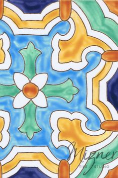 These beautiful custom tiles are hand painted and handcrafted by Mizner Tile Studio for your all your home design needs. Whether for your hand painted tile back splash in your kitchen, your bathroom floor tile pattern, or exterior spaces such as your swimming pool waterline or fountain. #homedesign #miznertilestudio #paintedtiles
