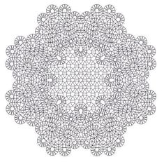Кружева на коклюшках: Сколки для круглыx салфеток