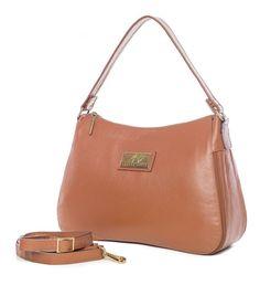 Bolsa Belle em couro legítimo caramelo - Enluaze Loja Virtual | Bolsas, mochilas…