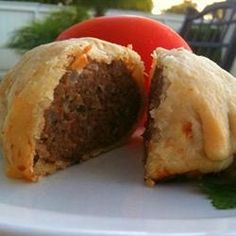 I took the idea of wrapping beef in pastry from the traditional beef Wellington to make a simpler dish with the kick of fennel seeds and cayenne. I serve these with tomato sauce. Fennel Recipes, Pork Recipes, Cooking Recipes, Entree Recipes, What's Cooking, Family Recipes, Gourmet Recipes, Family Meals, Yummy Recipes