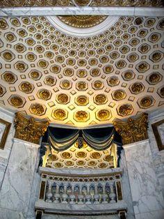 ceiling detail, Music pavillion of Madame Du Barry at  Louveciennes