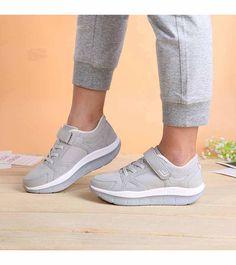 1ee14afd2f Grey lace velcro winter rocker bottom shoe sneaker