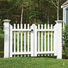 Harwich Double Walk Gate an enduring picket classic with sophisticated touches and first quality hardware | Walpole Outdoors
