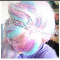 Cotton candy hair
