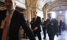 FBI director James Comey leaves a meeting on Capitol Hill on Friday in Washington DC.
