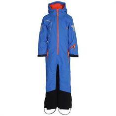 flyverdragt Koboltblå Molo Hero Junior med sort gummi på ben og bagdel
