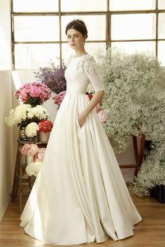 """{Las novias """"recatadas"""" de Chana Marelus (y un par de vestidos largos para invitadas increíbles)}"""