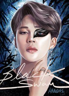 Art by Handas Jimin Fanart, Kpop Fanart, Park Jimim, Bts Twt, Foto Jimin, Bts Drawings, Bts Chibi, Bts Lockscreen, Black Swan