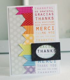 Subway Thanks Card by Betsy Veldman for Papertrey Ink (November 2012)