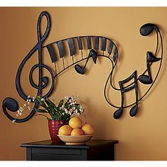 Wall Art, Metal Musical from Seventh Avenue ®