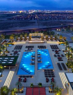 """We take the statement """"pool with a view"""" very seriously in Las Vegas. Check out the stunning view of the Las Vegas Strip from the M Resort pool."""