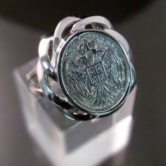 Unique Serbian Orthodox Crest ring in silver or gold - serbianorthodoxjewelry.com
